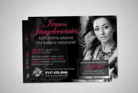 Flyer Design for RM Restaurant Gravesend