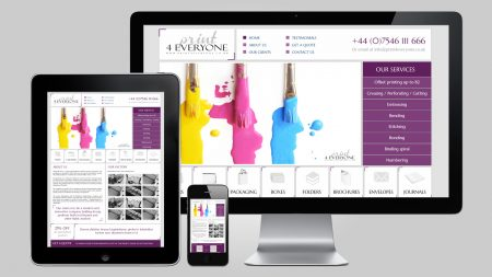 Graphic Website Design for Printing  Company
