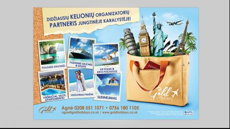 Poster Graphic Design for Gold Holidays LTD