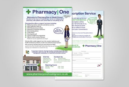 PharmacyOne Unique Flyer Design