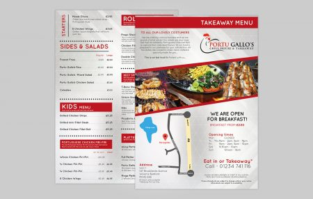 Portu Gallo`s Menu Design