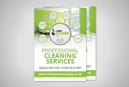Flyer Design for The Home Cleaning service