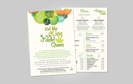 The Falafel Queen Menu Design