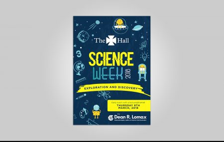 The Hall School Science Week 2018 Poster Design