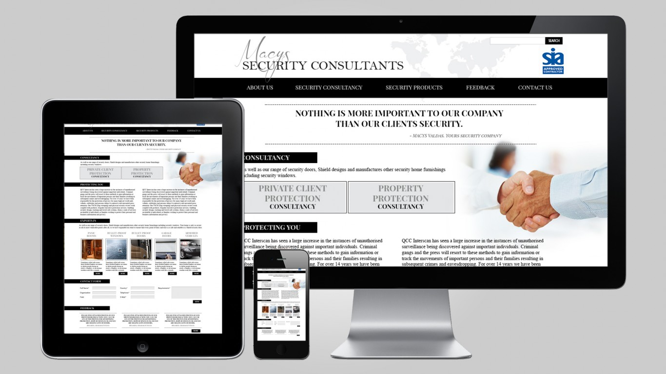 Security consultants website design design for Web design consultant