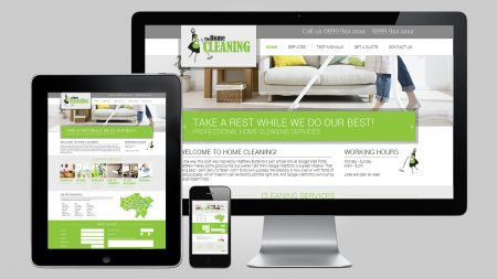 Website design for home cleaning service company in London