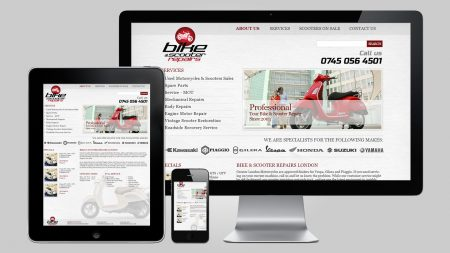 Bespoke Website design for Bike and Scooter Repairs