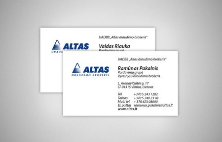 Business Card Design for ALTAS