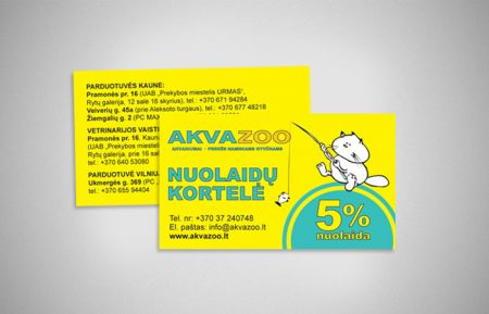 Business Card Design for Animal Shop AKVAZOO
