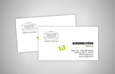 Business card design for A&RS Group