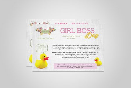 Mymuybueno Girl Boss Day Flyer Design