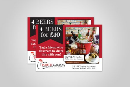 Flyer Design For Portu Gallos Takeaway House