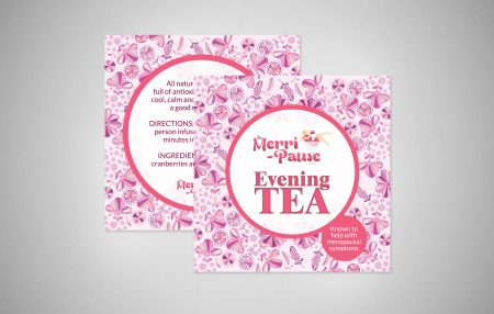 Merri-Pause Evening and Day Tea Labels