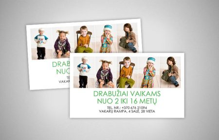 Business Card Design For Kids Clothes Shop